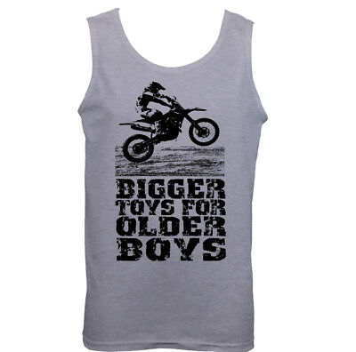 Motocross Bigger Toys Mens Funny Motorbike T-Shirt MotoX Dirt Bike Scrambler