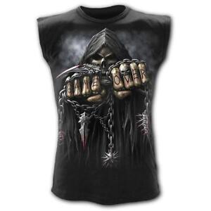 Spiral-Direct-Game-Over-Skeleton-Reaper-Gamer-Black-Sleeveless-Top-Tshirt