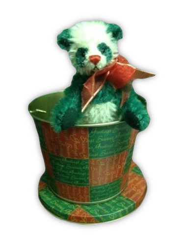 Deb Canham Pingle Bear with Tin