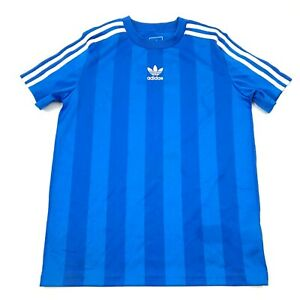 Details about Adidas Soccer Jersey Youth Size Medium Boys Blue White Dry Fit Short Sleeve Tee