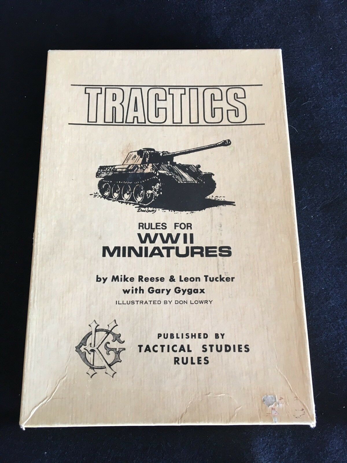 Tractics Rules For For For WWII Miniatures Tactical Studies Rules 1975 ec6089