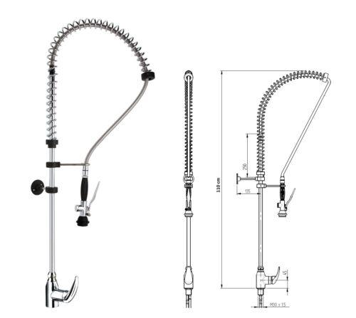 Tableware Shower Pendulum Shower Mixer Single Lever