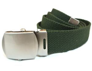 Details about Childrens Army Belt kids US army style canvas military belt  olive or black ~ New