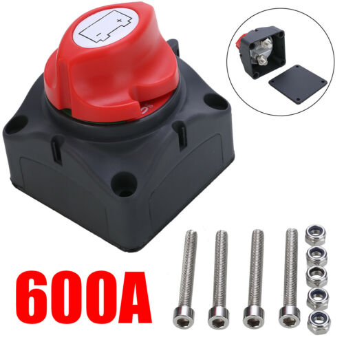 600A Boot Batterie Trennschalter Hauptschalter Stromschalter Ausschalter 24V DE