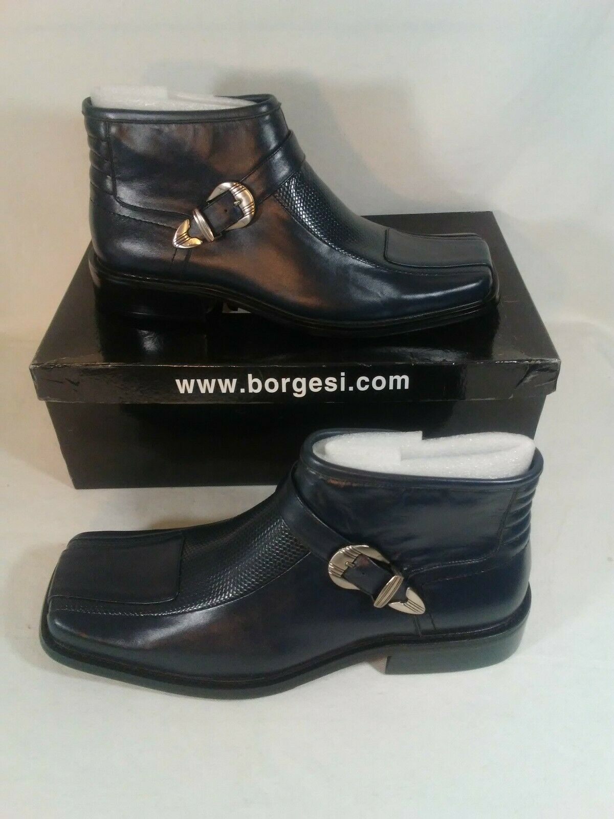 Borgesi botas al Tobillo Para Hombre Negro