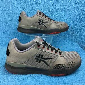 ef2947ec83 Image is loading KURU-QUANTUM-Orthotic-Plantar-Fasciitis-grey-red-shoe-