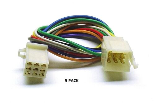 5 PACK 9 PIN SMALL PM Series Multi-Pin Connector Color-Coded 18 AWG Wire # 9 PM