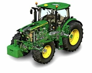A3-John-Deere-Tractor-6210r-Cut-A-way-Agriculture-Wall-Poster-Brochure-Picture