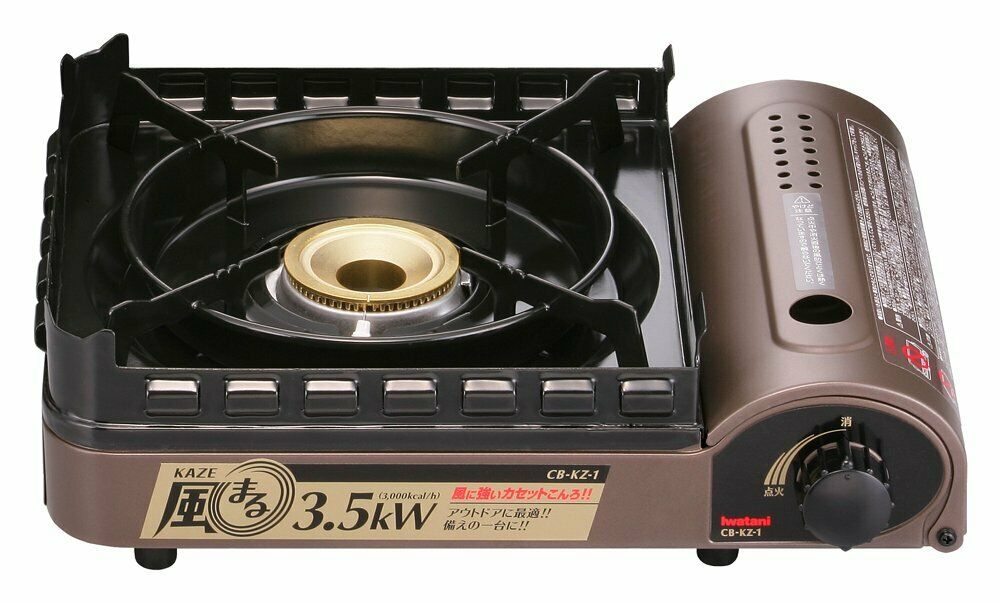 Iwatani Portable Butane Stove with Hard Case Camping Gas Burner CB-KZ-1-A EMS