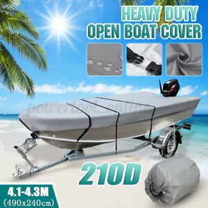 4-1-4-3m-Trailerable-Heavy-Duty-Open-Boat-Cover-Fishing-Ski-Runabout-Waterproof