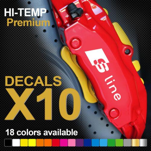 Compatible AUDI S-Line TT A3 A4 A5 A6 Q3 Q5 HI-TEMP PREMIUM BRAKE CALIPER DECALS