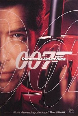 """007 P Brosnan TOMORROW NEVER DIES 1997 Advance DS 2 Sided 27x40"""" Movie Poster"""