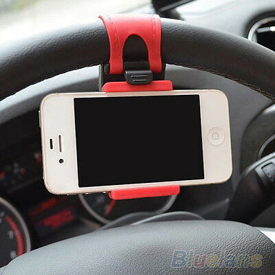 High Quality Car Steering Wheel Mount Holder Rubber Band Stand For Cellphone GPS