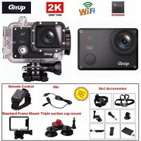 Gitup Git2 Pro 16mp 2k Sports Dv Video Camera Camcorder+mic+remote Control+kit