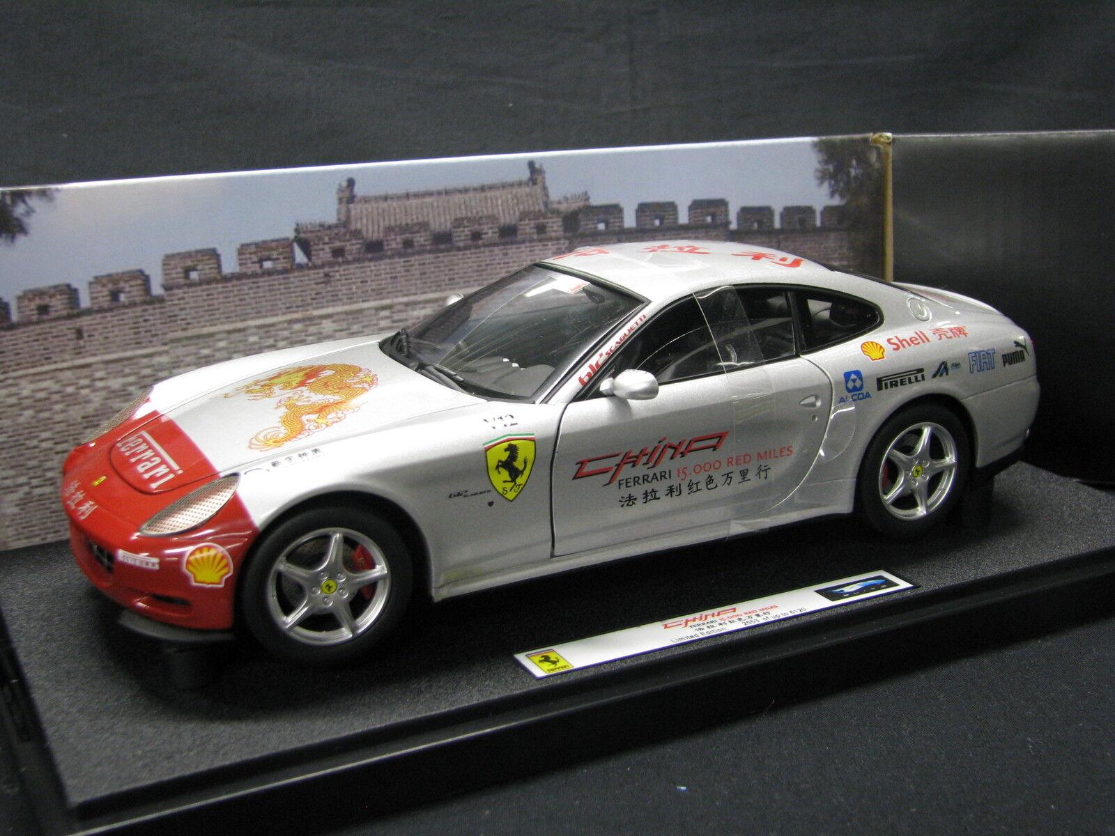 heta hjul Elite Ferrari 612 Scaglietti 2003 18 Kina 15.000 röd Miles S
