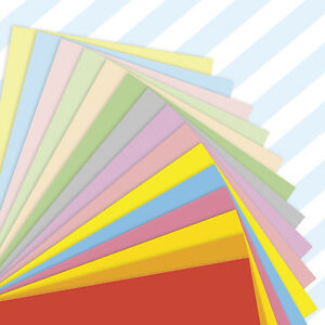 A4-Sheets-Mixed-Coloured-Craft-Printer-Copier-Card-160gsm-Stock-Pack-Plain