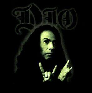 DIO-cd-lgo-RONNIE-JAMES-DIO-GREEN-PHOTO-Official-SHIRT-SMALL-black-sabbath