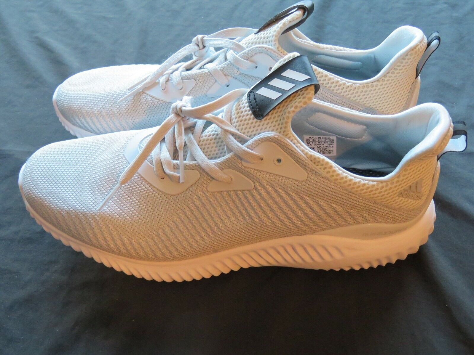 Nuevo Sin Caja Para Hombre Adidas Alphabounce 1 M gris y blancoo Running Zapatos