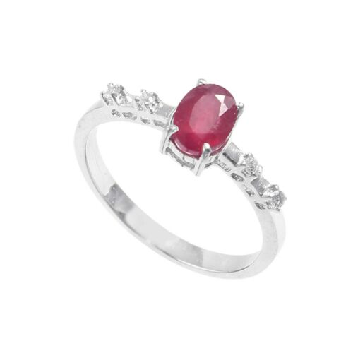 Size 7X5 MM Oval Shape Details about  /925 Sterling Silver Jewelry Ring Gemstone Ruby