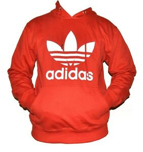 Adidas-Long-Sleeves-Pullover-Hoodie-Sweat-Shirt-Trefoil-Men-Size-3-Colors