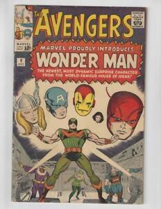 The-Avengers-9-Silver-Age-Marvel-Comic-Book-1st-Wonder-Man-VG