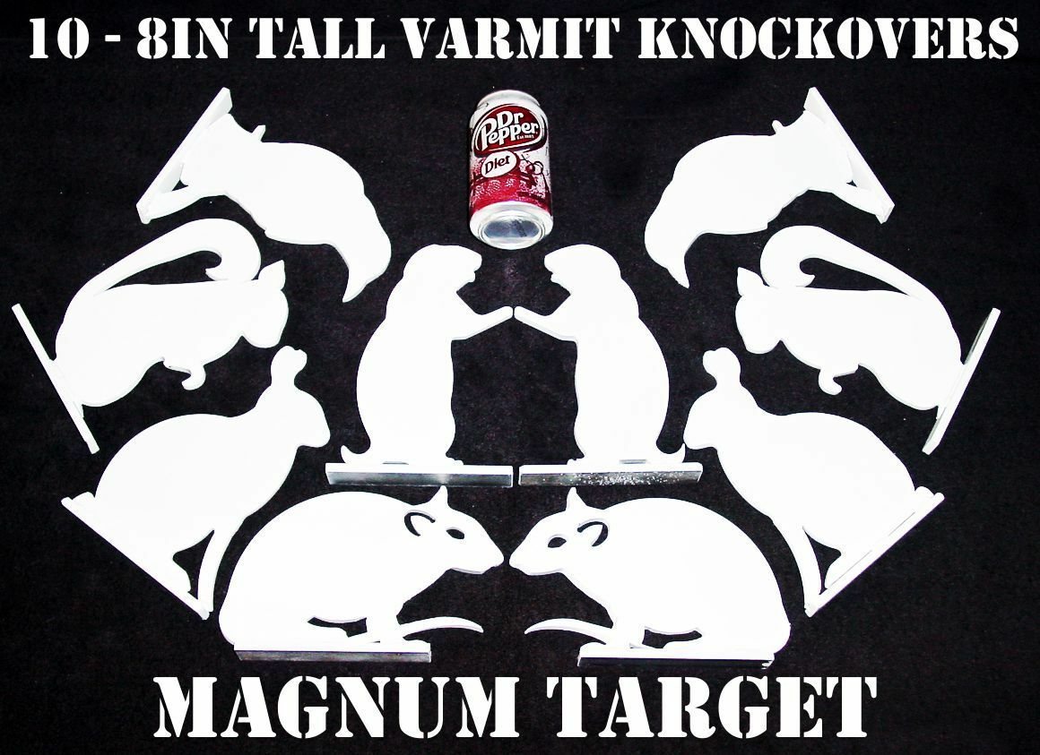 8 pulgadas Acero targets-animal silueta De Tiro targets-1   4 Pulg. Metal plate-10pcs