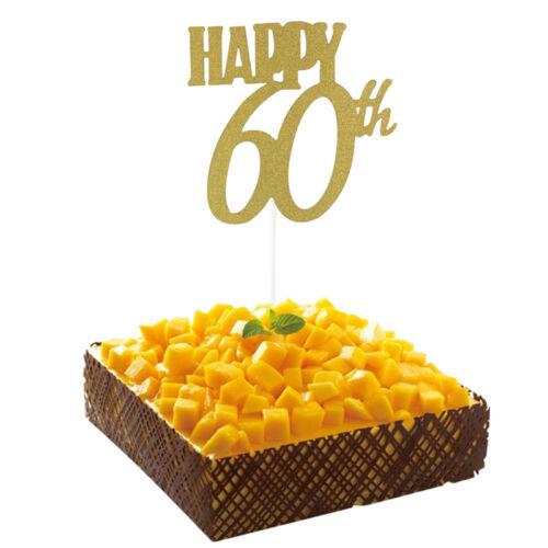Happy Birthday Party Cake Topper Glitter 30th Anniversary Wedding Cake Decor