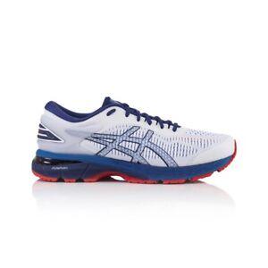 Asics Gel Kayano 25 Men's Running Shoes - White/Blue Print