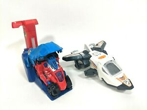 Lot of 2 Vtech Switch & Go Dinos SkySlicer the Allosaurus Turbo T-Rex Launcher