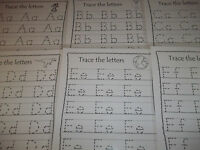 The Entire Alphabet Trace The Letters Laminated Worksheets For Dry Erase. 26 La