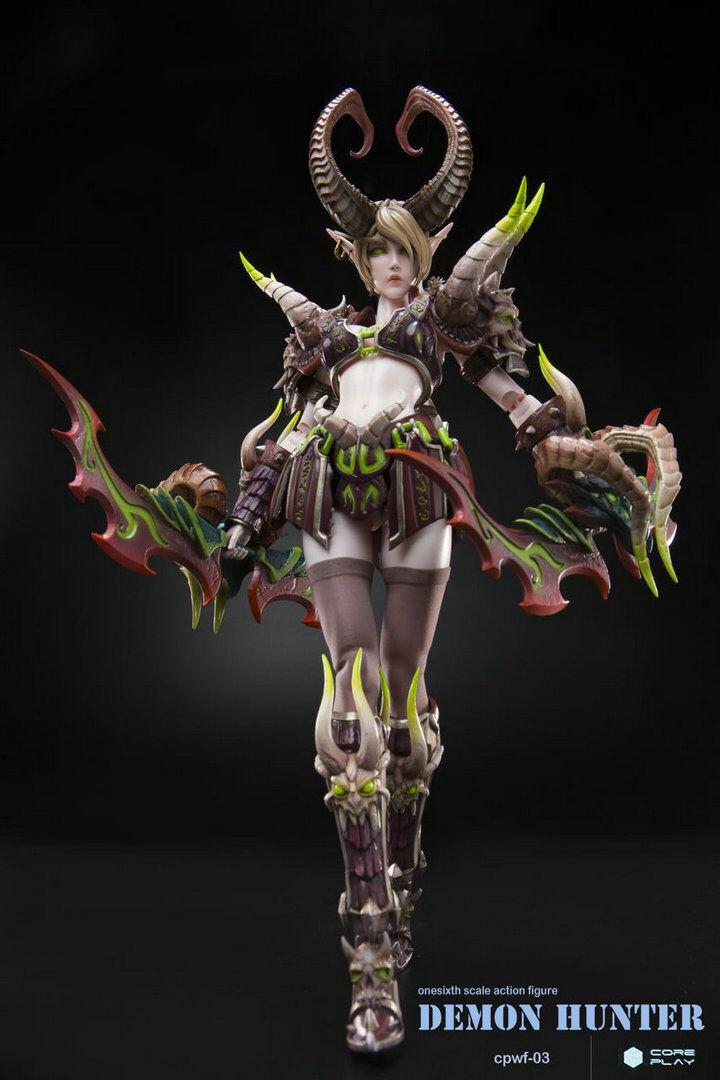 World of Warcraft elfo de sangre Demon Hunter 1 6 Escala Figura De Acción