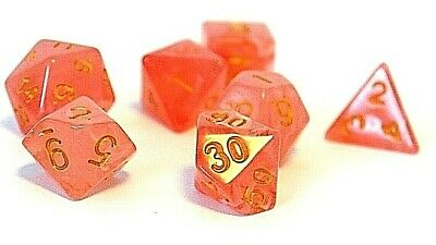 RPG Würfel Set 7-teilig Poly DND Borealis Luninous Venom dice4friends w4-w20