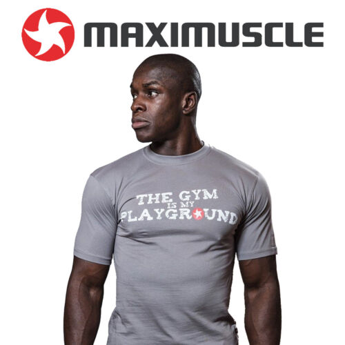 Maxi-Muscle T-Shirt Cool Grey The Gym is My Playground Extra Large