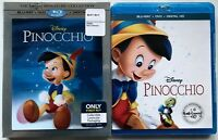 Disney Pinocchio Blu Ray Dvd Digital Best Buy Exclusive Lenticular Slipcover