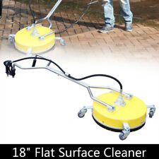 18 Surface Cleaner Flat Concrete Whirl Cleaner With 2nozzles Dual Handle Yellow