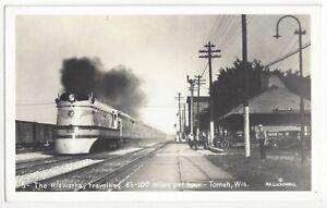 VINTAGE MILWAUKEE ROAD RAILROAD RR STATION POSTCARD 1940/'s MINNESOTA TRAIN DEPOT
