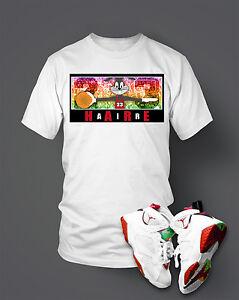 72aeb1829 Custom T-shirt To match Hare Air Retro Jordan Size S-7XL White Pro ...