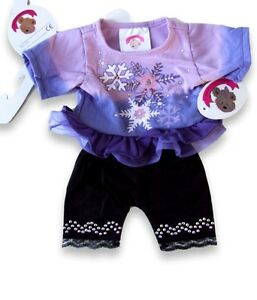 Teddy-Bear-Clothes-fits-Build-a-Bear-Teddies-Purple-Sweater-Leggings-Clothes