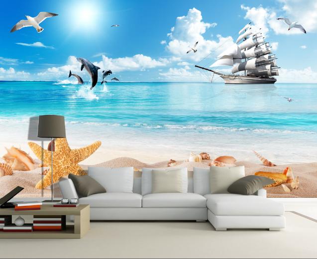 3D Interesting Beach 8 Wall Paper Murals Wall Print Wall Wallpaper Mural AU Kyra