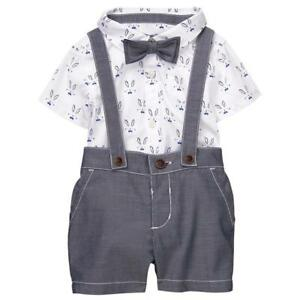 d7203e499069 Gymboree Baby Boys Easter Bunny Suspenders Bow Tie 6 12 18 24 Months ...