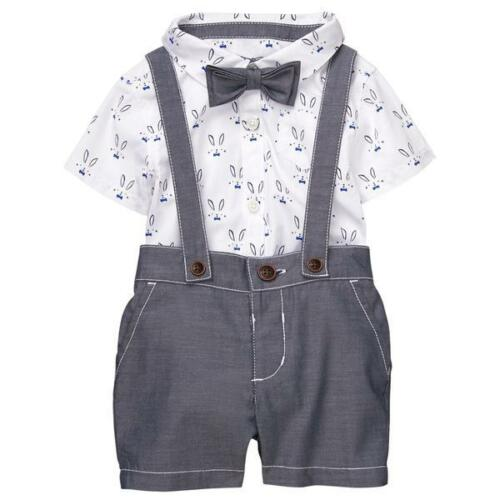 Gymboree Baby Boys Easter Bunny Suspenders Bow Tie 6 12 Months NWT $44.95