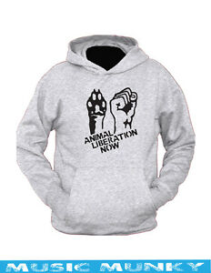 Neuf-Animal-Liberation-Sweat-a-Capuche-Vegan-Rights-Alf-Toutes-les-Tailles