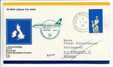 FFC 1972 Lufthansa PRIMO VOLO LH 077 Boeing 737 - Dublino Manchester Francoforte