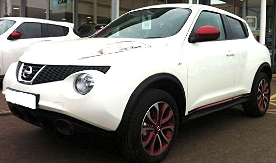 Nissan Juke Pair of Mirror Backing Caps Force Red New + Genuine KE9601F000RD