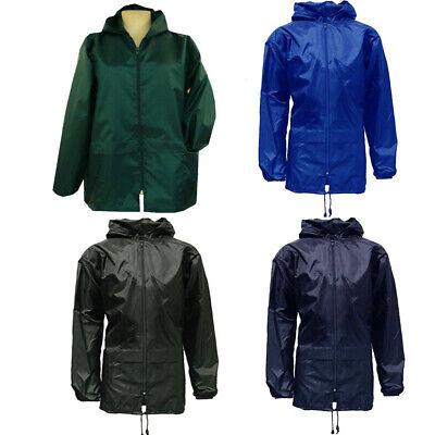 Verantwortlich Big Sizes Unisex Rain Coat Jacket Kagool/kagoul/cagoule/ Sizes-3xl,4xl,5xl,6x SchöN Und Charmant