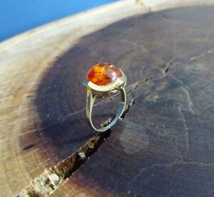 Bernstein-Amber-Ring-8-Kt-Gold-333-Ringgrose-57-Design