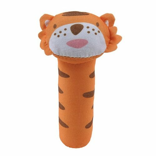 Newborn Baby Kids Soft Animal Rattles Plush Toy Pet Dogs Squeeze Sound Chew Toys