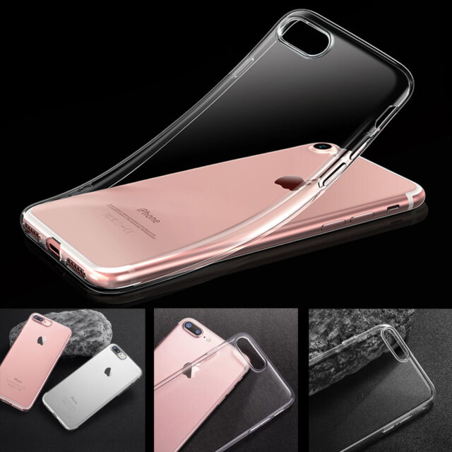Shockproof 360° Silicone Protective Clear Case Cover For Apple iPhone 8 7