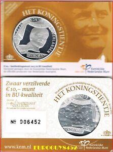 NEDERLAND - COINCARD 10 € 2013 BU - KONING WILLEM-ALEXANDER - KONINGSTIENTJE
