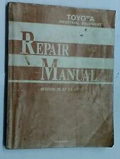 Toyota Industrial Equipment Repair Manual 6fgcu1518202530